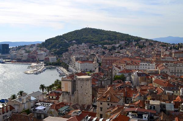 Vistas desde el campanario de Split